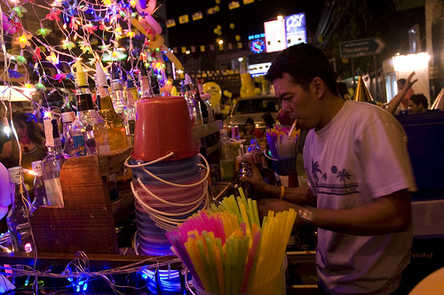 bangkok street bar photo