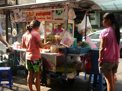 bangkok food stand photo