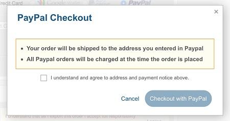 Paypal notice