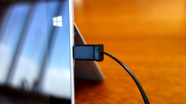 Surface charged with typical usb cable