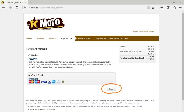 FC-Moto payment method