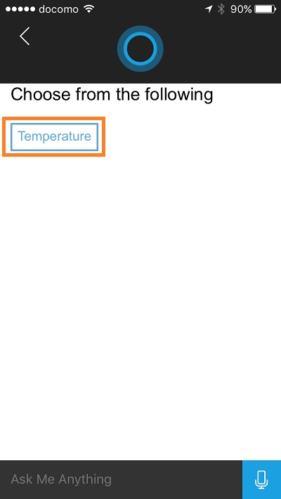 Cortana - change temperature unit 4