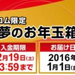 【福袋 2016】ヨドバシカメラの福袋のオンライン予約は明日12月17日午前9時スタート