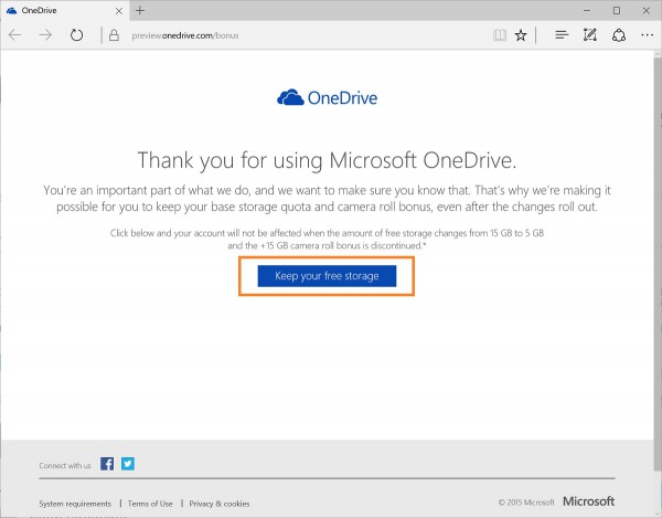 How to keep your free OneDrive space 1