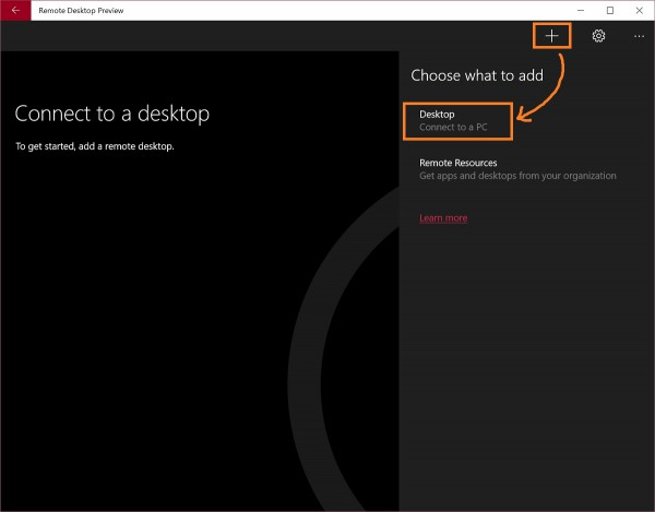Remote Desktop UWA 3