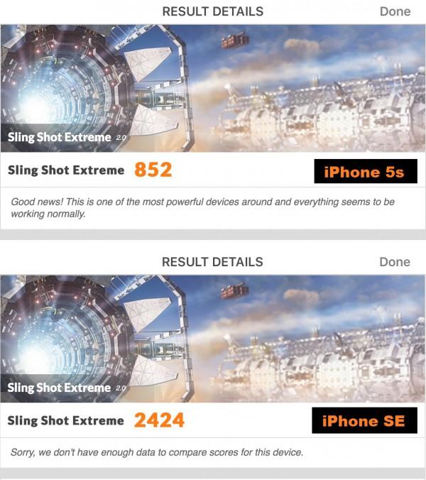 iPhone SE 3DMark