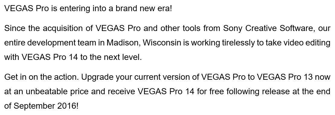 mail about vegas from magix