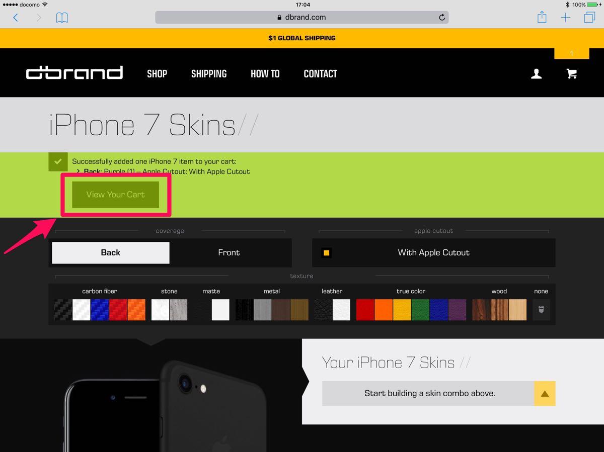 dbrand iPhone 7 skin - 7