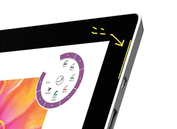 Surface3 Speaker Slit