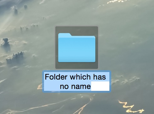 フォルダのリネーム