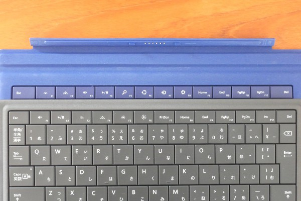Surface type covers 1st row keys