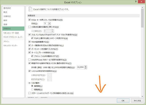 Excel 詳細設定2