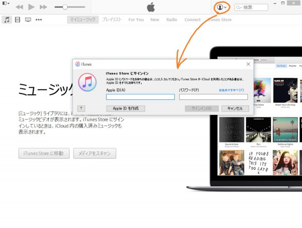 Sign-in with appropriate apple id