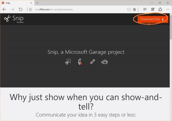 Microsoft Snip download 1