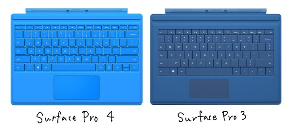 Surface keyboards side by side