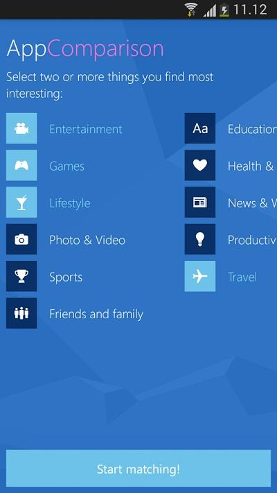 Microsoft App Comparison