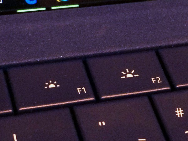 Surface Pro 3 keyboard backlight keys