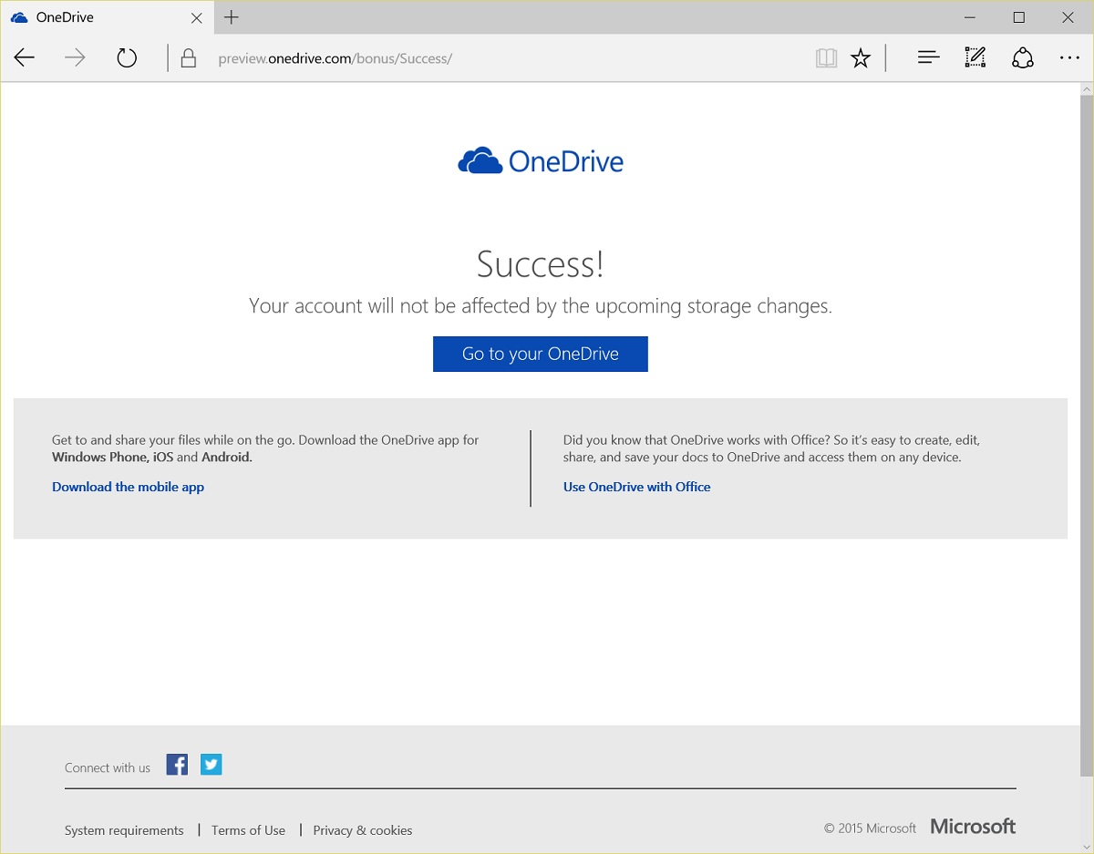 how to get free onedrive space