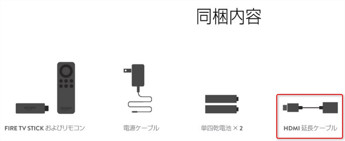 Fire TV Stick - HDMI extension cable