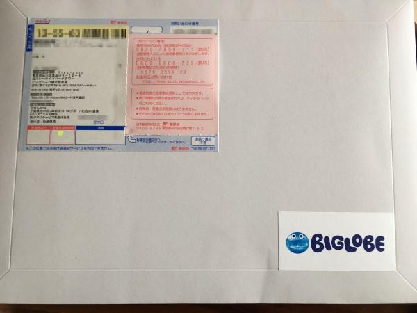 BIGLOBE SIM packet