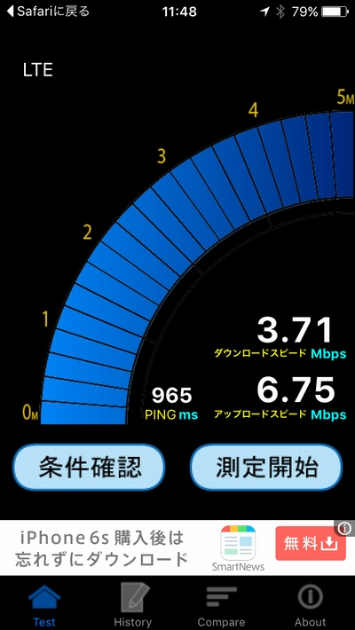 BIGLOBE SIM speed test