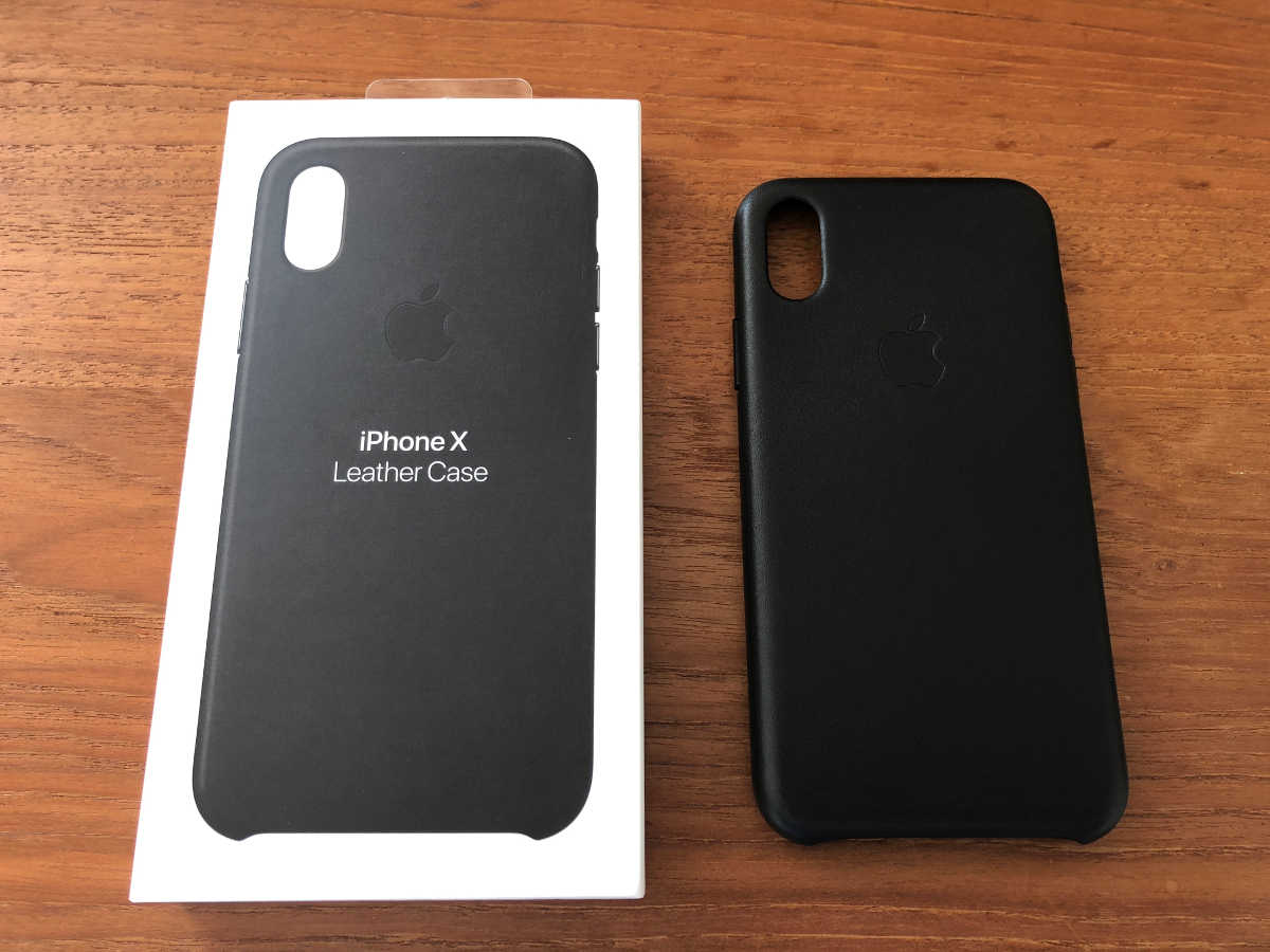 iPhone X genuine leather case - 0