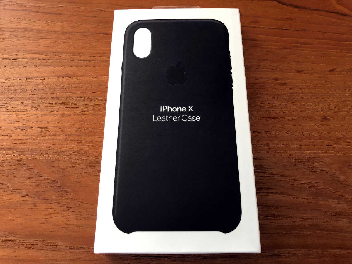 iPhone X genuine leather case - 1