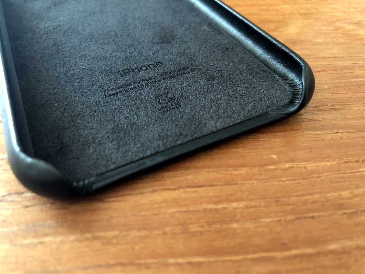 iPhone X genuine leather case - 5