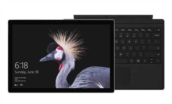 Surface Pro(Core m3) and black typecover