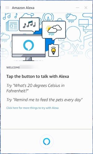 Amazon Alexa app on Windows - 9
