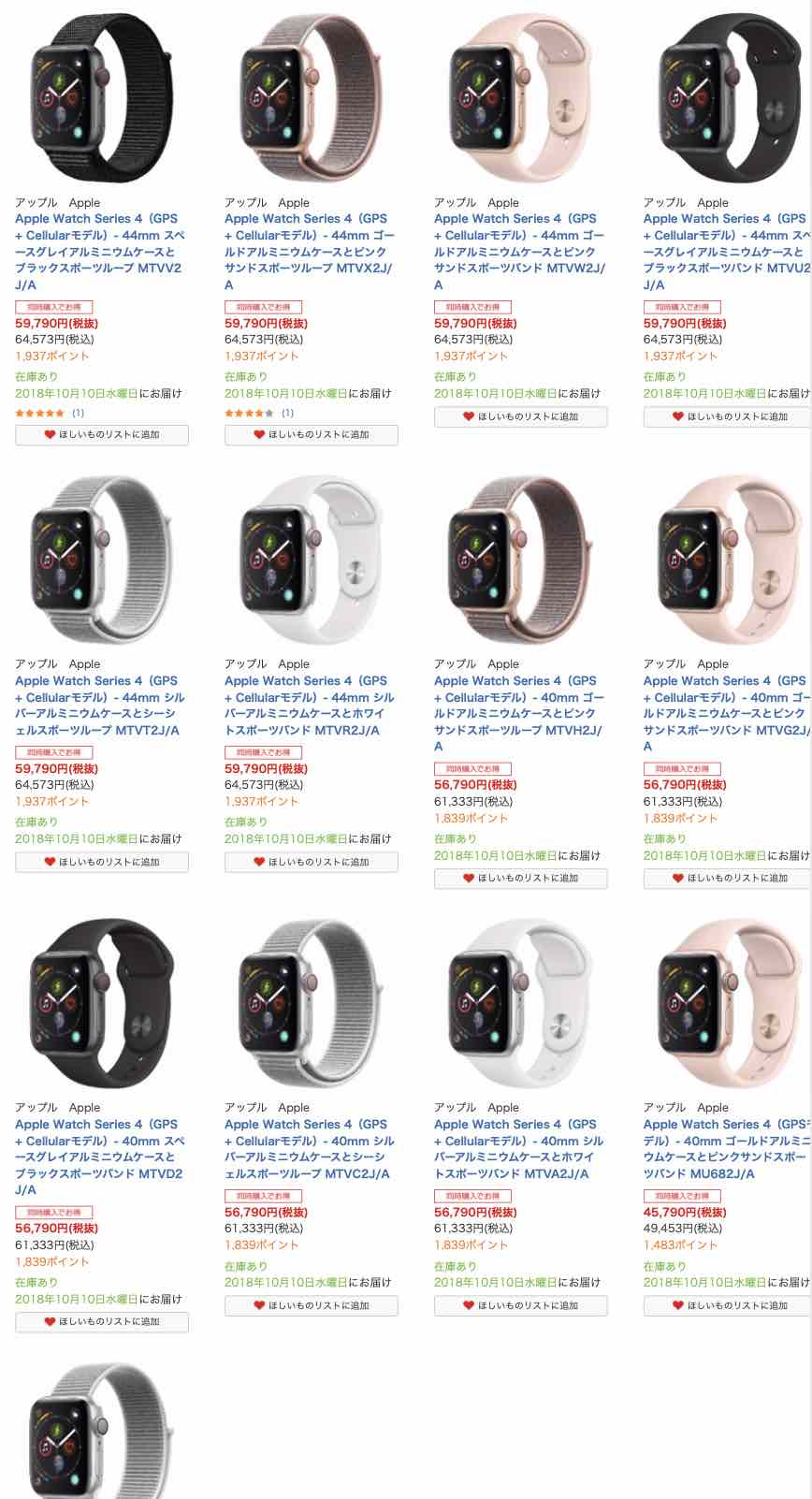 Apple Watch Series 4 stock - 2