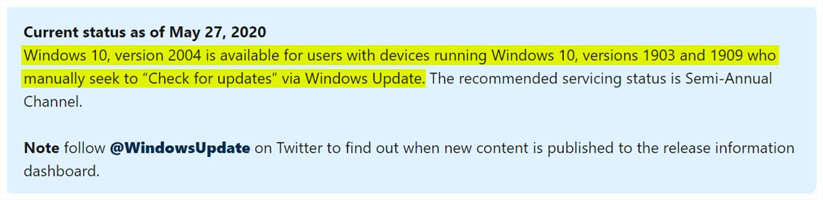 Windows 10 May 2020 Update - 1