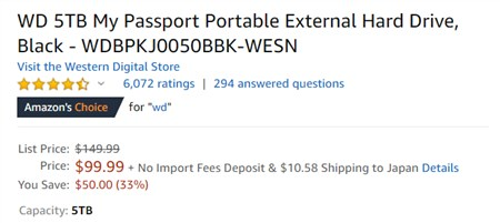 WD My Passport 5TB - 3