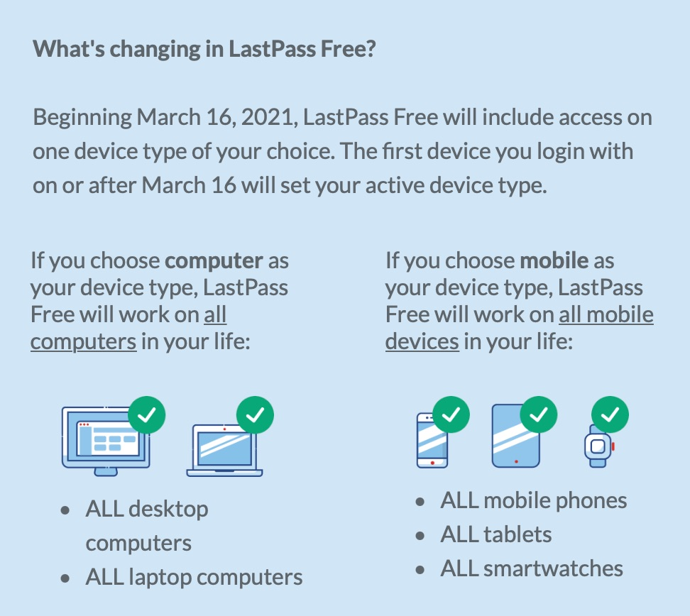 LastPass Free 改悪 - 1