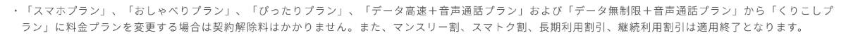UQモバイル くりこしプラン変更 - 9